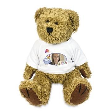 Pluche Teddy beer 18 cm met...