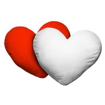 Kussen Hartvormig Rood / Wit