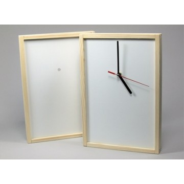 Divers, Clock, wood with...