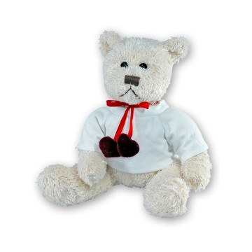 Plush, Bear with hearts,...