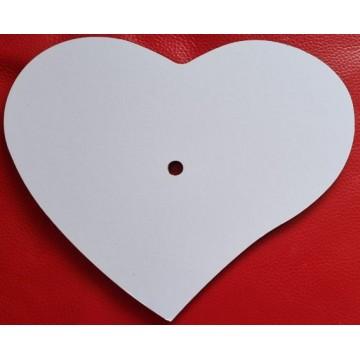 Clock, MDF, Heart, 20cm x...